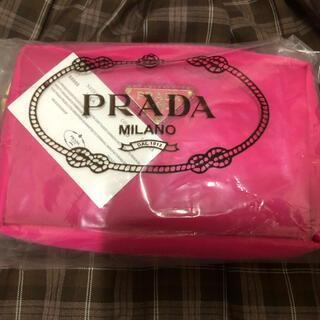 PRADA - PRADA 化粧ポーチ 未使用 レット 小物入れ