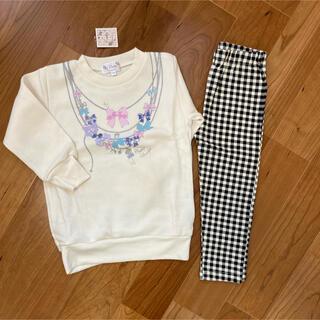 マザウェイズ(motherways)の新品タグ付き⭐︎マザウェイズ104cmトレーナー&レギンスセット(Tシャツ/カットソー)