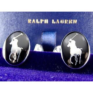 ラルフローレン(Ralph Lauren)のラルフローレン SV925 ブラックホース カフス カフリンクス 箱付き(カフリンクス)
