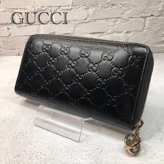 Gucci - GUCCI グッチ 長財布 シマ ラウンドジップ ファスナー ツートン