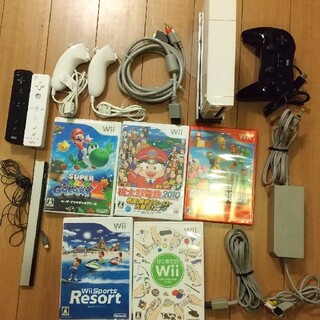 Wii - 任天堂Wii本体+ソフト5本セット