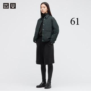 UNIQLO - ユニクロ ウールブレンドジャージータックショートパンツ 黒 61 新品