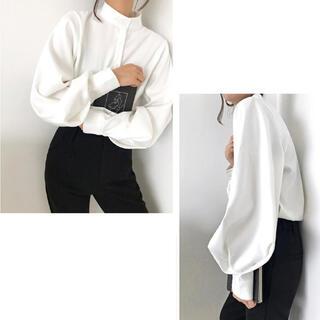 snidel - 新品未使用ボリューム袖ランタンスリーブシャツブラウスモード韓国モテ白ホワイト