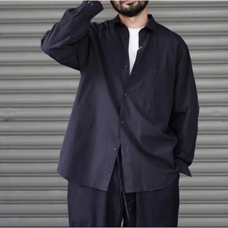 COMOLI - COMOLI  /  21AW コモリシャツ 新型 3 ネイビー 紺