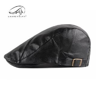 レザーハンチング ブラック 帽子 黒 キャップ (ハンチング/ベレー帽)