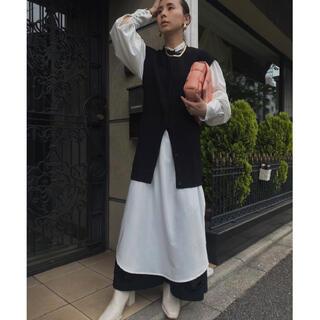 アメリヴィンテージ(Ameri VINTAGE)の【シャツのみ】MANY WAY VEST LAYERED SHIRT DRESS(ロングワンピース/マキシワンピース)