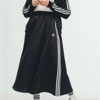 adidas - adidas サテンロングスカート アディダス