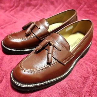 リーガル(REGAL)のリーガル Uチップ タッセルローファー 24.5cm  革靴 ブラウン茶 j30(ドレス/ビジネス)