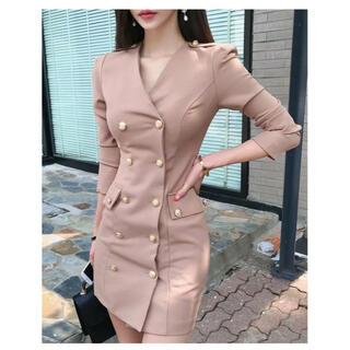 【残り1着】韓国ファッション エレガント長袖きれいめキャバドレス