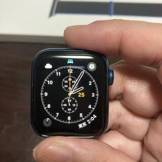 Apple Watch - 【美品】Apple Watch6 ブルーアルミニウムケース40㎜ GPSモデル