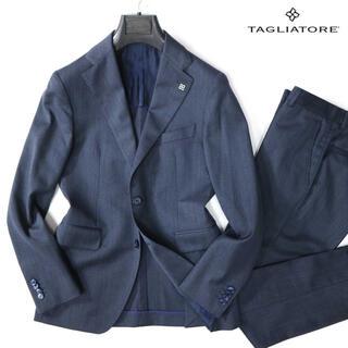 タリアトーレ 14万最高級super'110ウールネイビーセットアップスーツ(セットアップ)