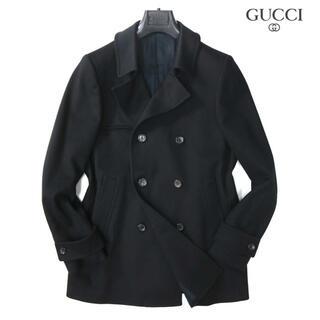 Gucci - グッチ gucci 45万最高級ウールブラックPコート