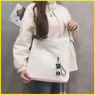 即購入OK✧ 2WAY キャンバス バッグ  ショルダーバッグ 斜め掛け 白