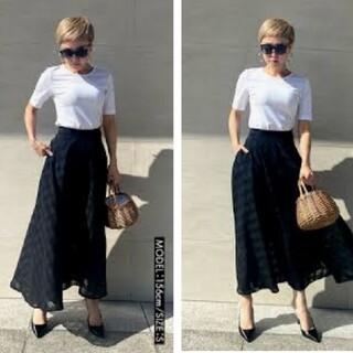 ZARA - jenne ジェンヌ 刺繍 チェック スカート S