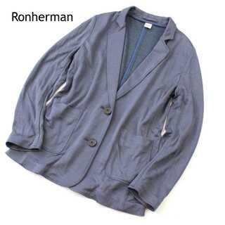 ロンハーマン(Ron Herman)のロンハーマン★シルク混 テーラードジャケット ジャージー ネイビーグレー XS(テーラードジャケット)