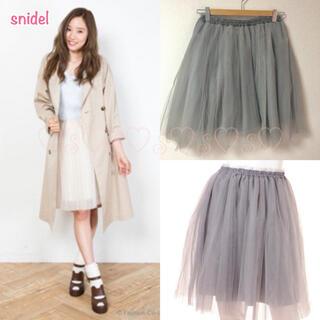 スナイデル(snidel)のsnidel♡チュールボリュームスカート(ひざ丈スカート)