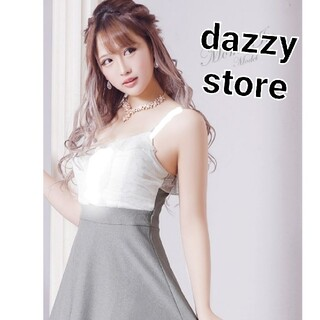 dazzy store - dazzystore ホワイトレース フレア キャバドレス