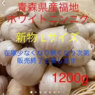 新物 青森県産福地ホワイトニンニク Lサイズ1200g
