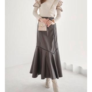 GRL - GRL レザー マーメイドスカート