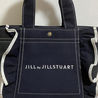 JILL by JILLSTUART - ジルバイジルスチュアート フリルトートバッグ 小 ブラック 黒
