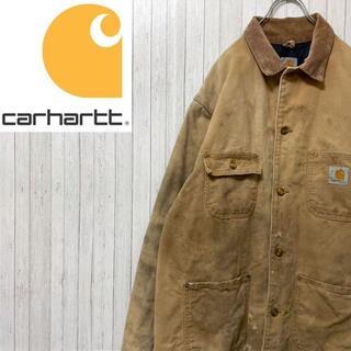 カーハート(carhartt)のカーハート ダックジャケット カバーオール キャメル ビッグサイズ コーデュロイ(ブルゾン)
