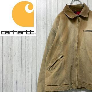 カーハート(carhartt)のカーハート ダックジャケット 中綿 キルティング キャメル 襟コーデュロイ(ブルゾン)
