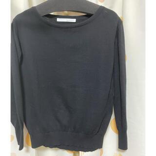 スピックアンドスパン(Spick and Span)のブラックセーター(ニット/セーター)