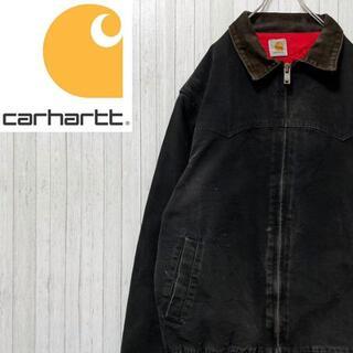 カーハート(carhartt)のカーハート ダックジャケット 黒 中綿 キルティング 肉厚 ビッグサイズ(ブルゾン)