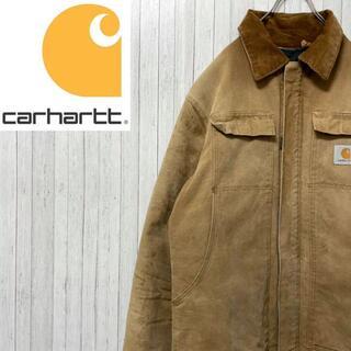 カーハート(carhartt)のカーハート ダックジャケット ブラウン ビッグサイズ 中綿 キルティング 肉厚(ブルゾン)
