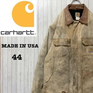 カーハート(carhartt)のカーハート ダックジャケット USA製 中綿 キルティング ブラウン 肉厚 44(ブルゾン)