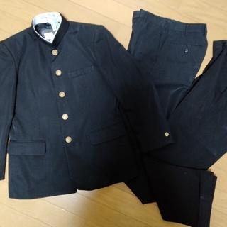 標準型学生服上下セット 155A 学ラン 夏冬ズボン2本セット(スーツジャケット)