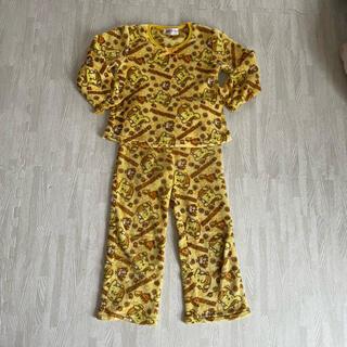 サンリオ(サンリオ)のポムポムプリン モコモコ パジャマ ルームウェア 120 黄色系(パジャマ)