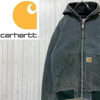 カーハート(carhartt)のカーハート ダックジャケット アクティブパーカー グリーン キルティング(ブルゾン)