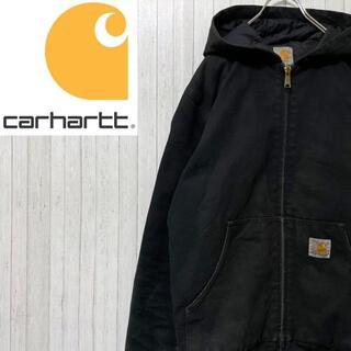 カーハート(carhartt)のカーハート ダックジャケット アクティブパーカー 黒 ブラック キルティング S(ブルゾン)