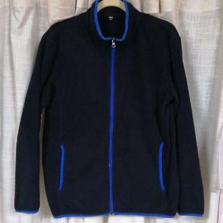 ユニクロ(UNIQLO)のUNIQLOユニクロ フリースジップジャケット ネイビーL(その他)