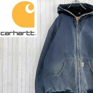 カーハート(carhartt)のカーハート ダックジャケット アクティブパーカー ブルー 肉厚 ビッグサイズ(ブルゾン)