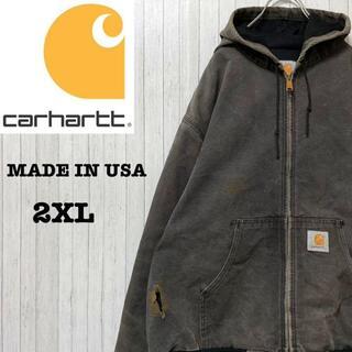 カーハート(carhartt)のカーハート ダックジャケット アクティブパーカー USA製 ビッグサイズ 2XL(ブルゾン)