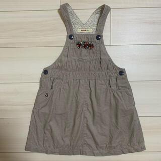familiar - ファミリア 120 ワンピース ジャンパースカート 女の子 秋服 冬服