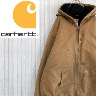 カーハート(carhartt)のカーハート ダックジャケット アクティブパーカー ブラウン ビッグサイズ 肉厚(ブルゾン)