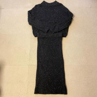 DOUBLE STANDARD CLOTHING - double standard clothing ニット セットアップ ブラック