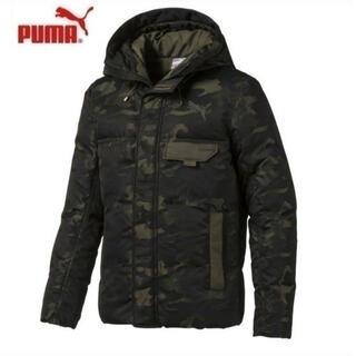 プーマ(PUMA)の新品 puma プーマ CAMO ダウンジャケット メンズ Mサイズ カーキ(ダウンジャケット)