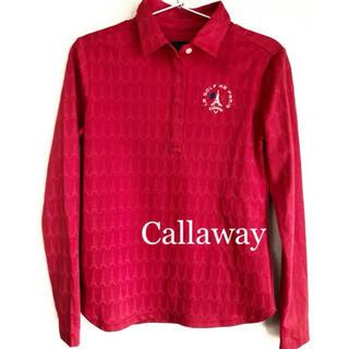 Callaway - 【新品】キャロウェイCallaway長袖ポロシャツS赤レッドトップスゴルフウェア