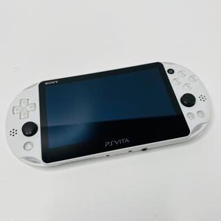 プレイステーションヴィータ(PlayStation Vita)のSONY psvita 本体 PCH-2000 ZA22グレシャーホワイト(携帯用ゲーム機本体)