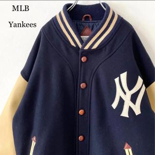 STUSSY - 【希少】90s スターター MLB ヤンキース50周年仕様 袖レザースタジャン