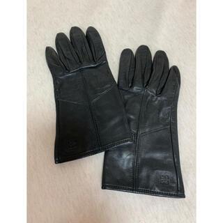 GIVENCHY - 秋冬ジバンシー 黒レザーグローブ 手袋 レディース ジバンシィ