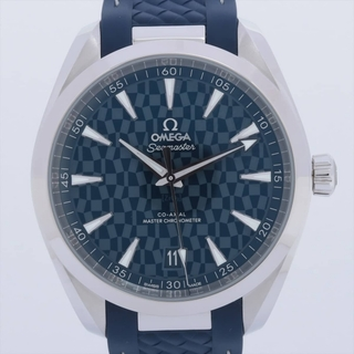 OMEGA - オメガ シーマスター アクアテラ SS×ラバー   メンズ 腕時計