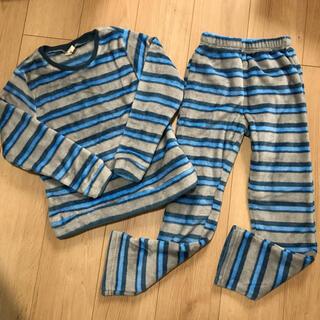 未使用 男の子 ふわふわ パジャマ 130 ボーダー