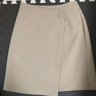 クリアインプレッション(CLEAR IMPRESSION)のクリアインプレッション 巻きスカート ベージュ(ひざ丈スカート)