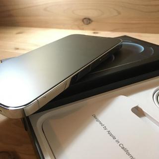 アップル(Apple)の【美品】iPhone12 pro max シルバー 128GB 本体(スマートフォン本体)