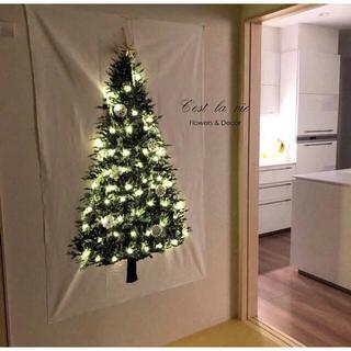 3点セットクリスマスツリー  壁掛け USB式 イルミネーション ライト 星付き